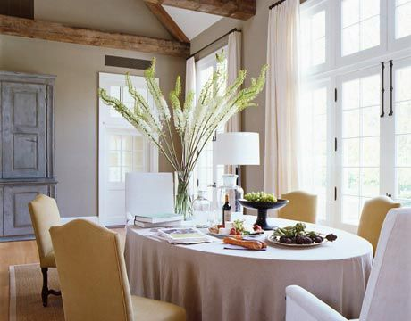 Ina Garten Hamptons Home here ina garten has the dining table all set and ready for guests