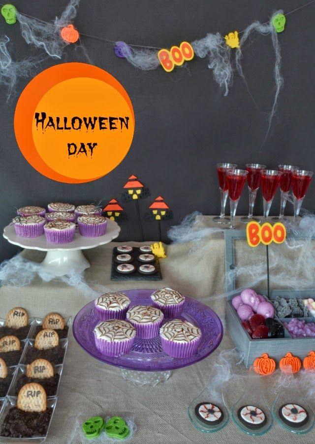 Muchomasquecupcakes Mesa dulce para Halloween Halloween
