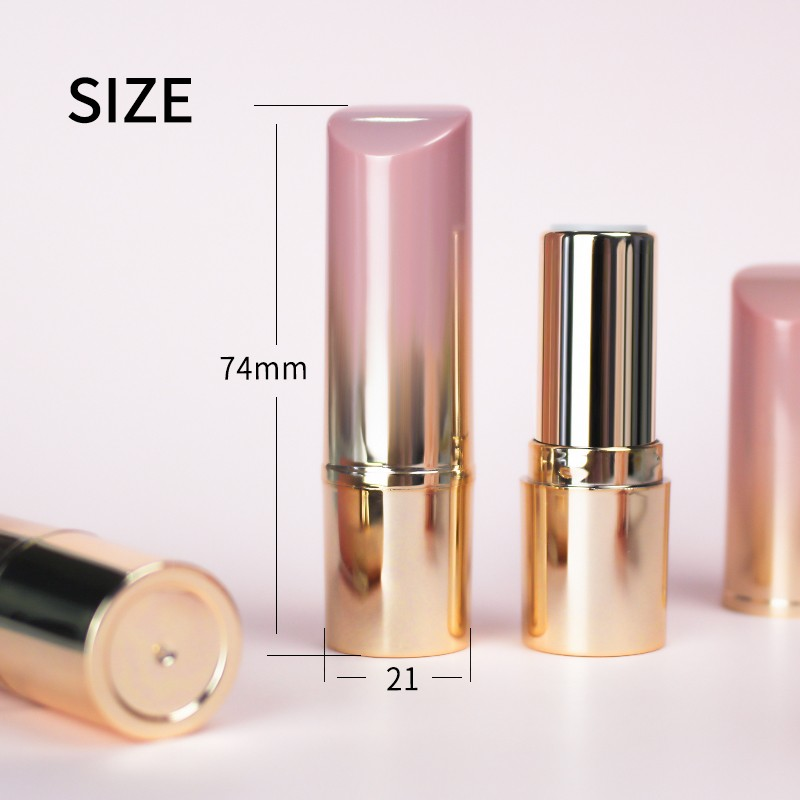 Photo of Wholesale Stock Goods Professional Gradient Lovely Pink Color Lipstick Tube With…