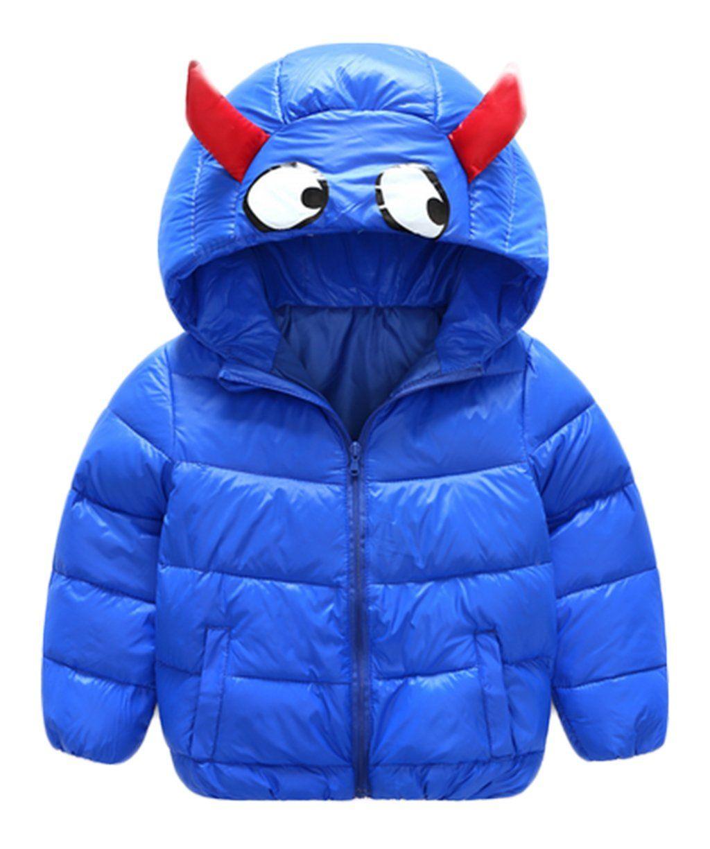 0f75f6856276 Kids Baby Boys Girls Winter Puffer Cartoon Hooded Coat Thicken Down ...