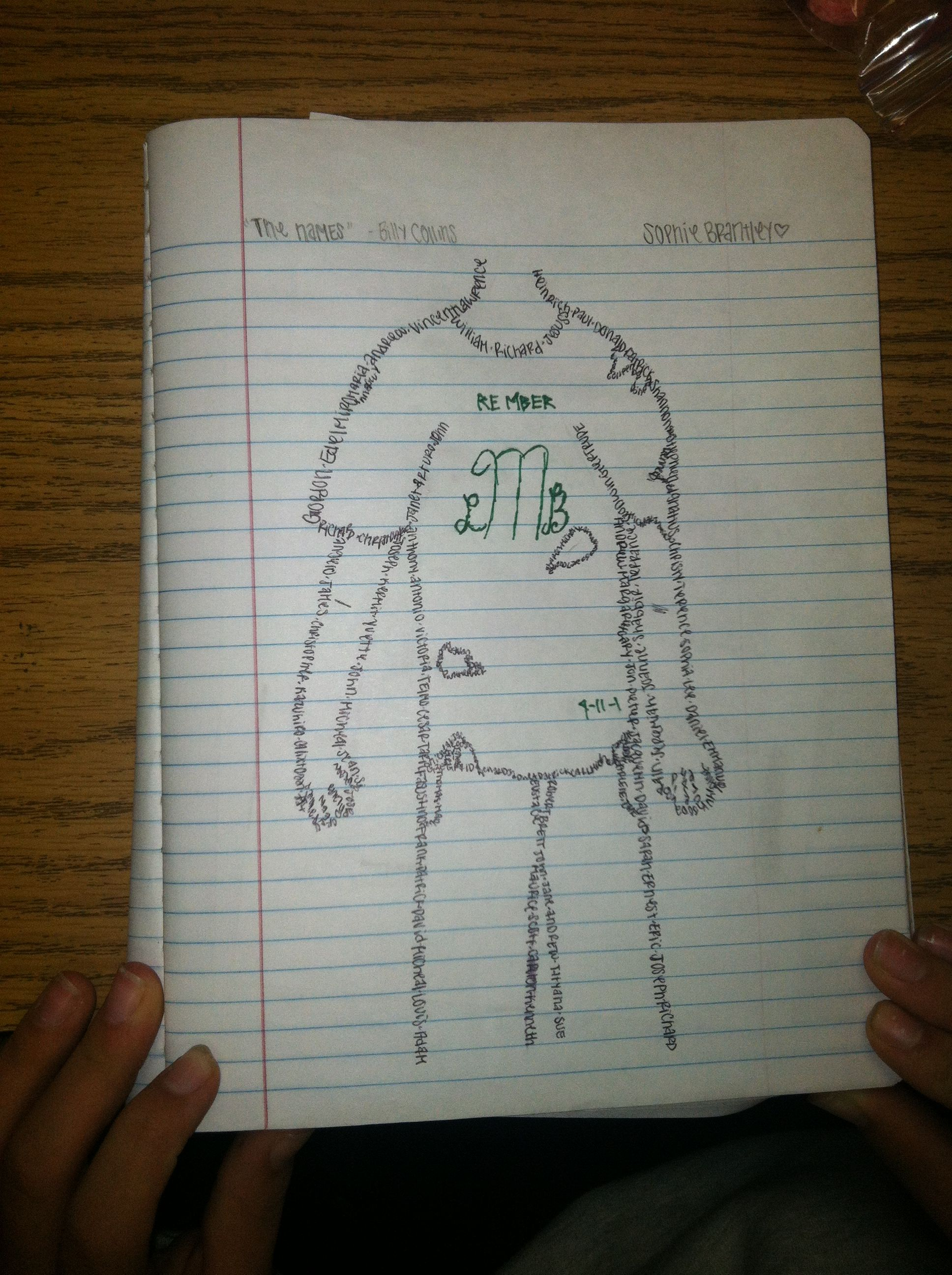 Students Create Concrete Poems To Honor 9 11