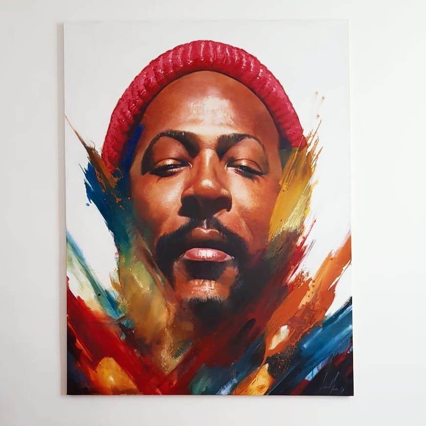 Marvin Gaye Painting Marvin Marvin Gaye
