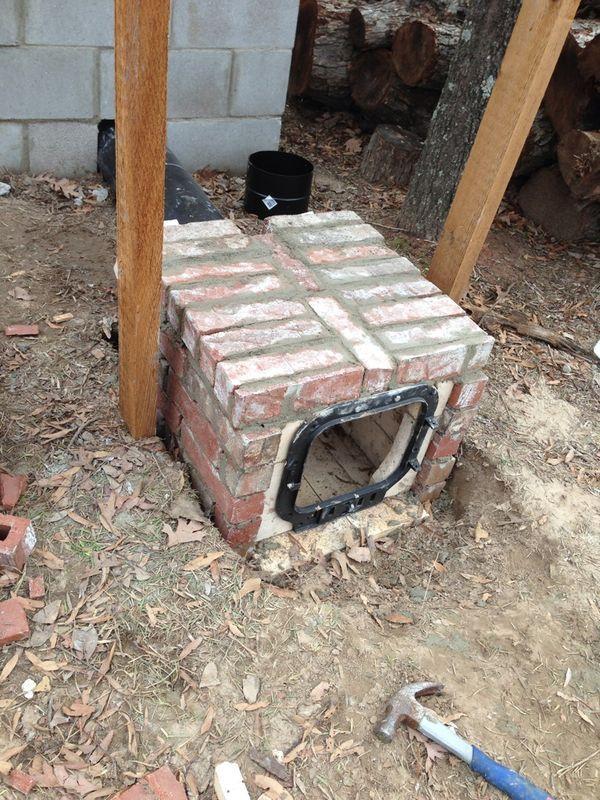 Cedar smokehouse construction