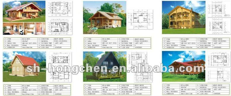 Container Prefab Wooden House Log Cabins