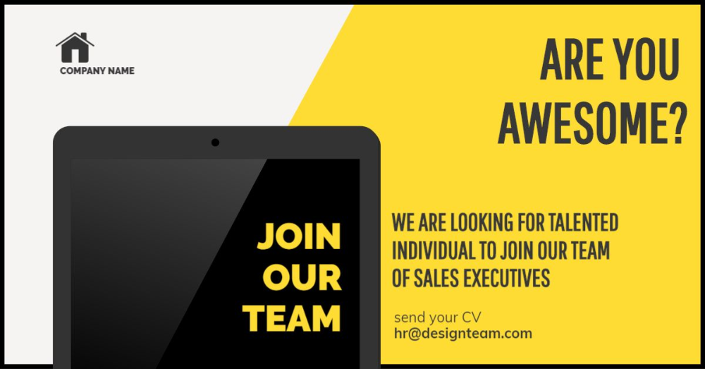 Looking for a new member to join your team? Use this