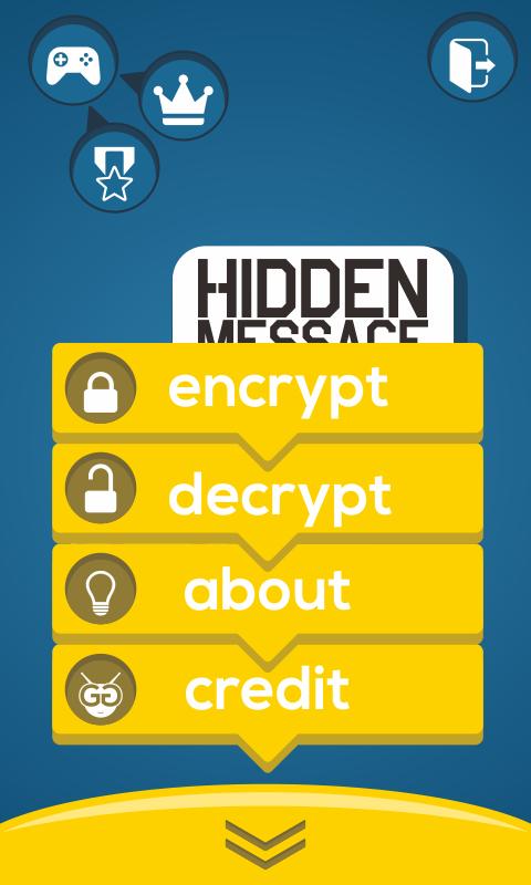 menu at hidden message
