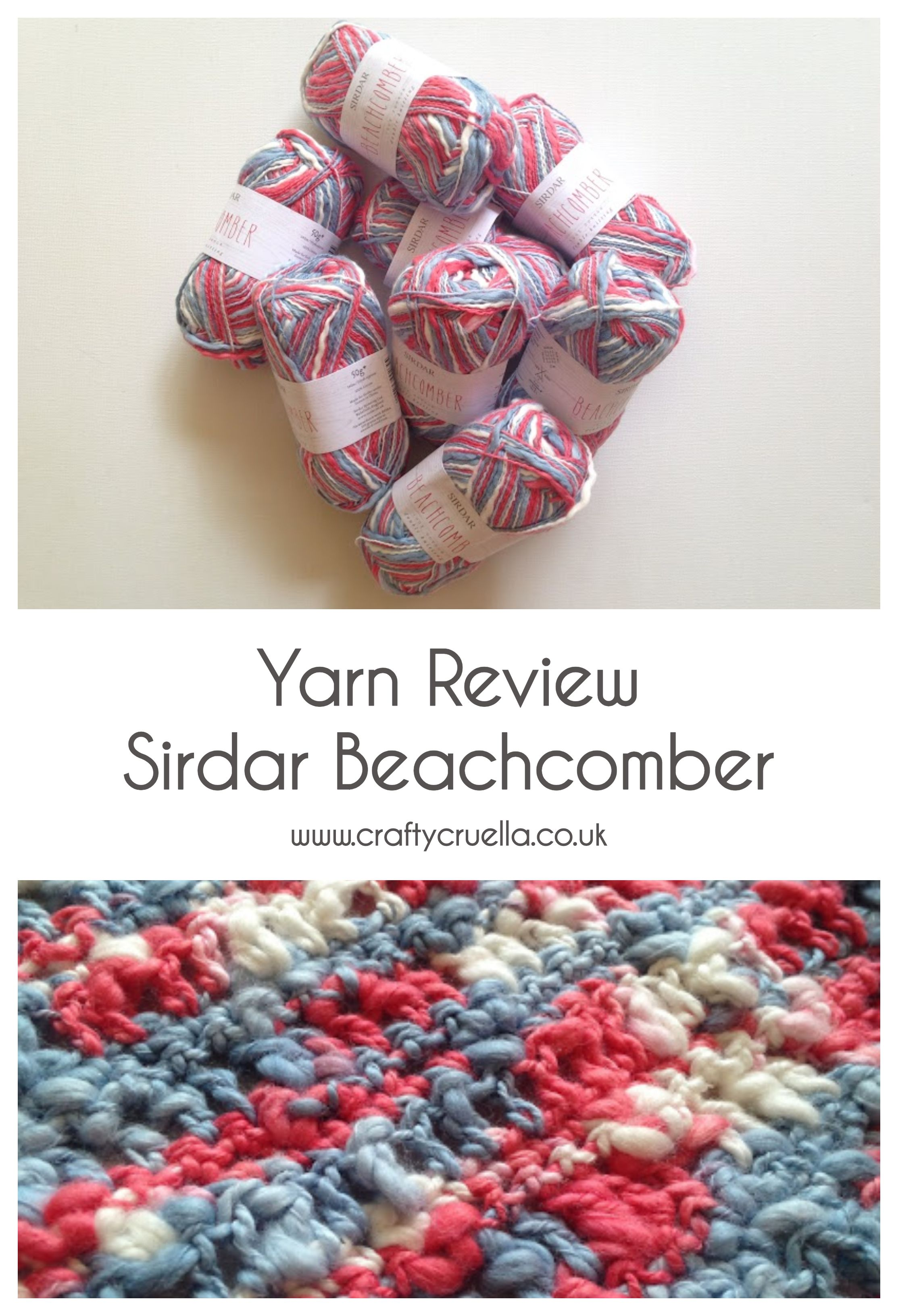 Yarn Review ~ Sirdar Beachcomber | My hobby is crochet ...