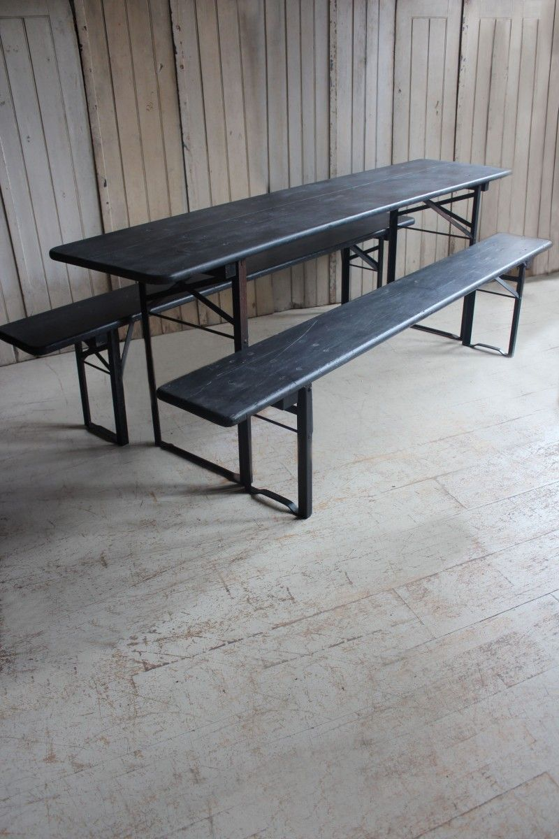 Miraculous Attic Painted Table Bench Set Original Vintage German Evergreenethics Interior Chair Design Evergreenethicsorg