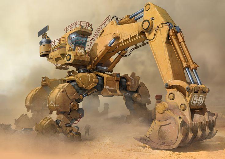 ArtStation - Excavator, YU YIMING: | Conceptacular | Robot ...