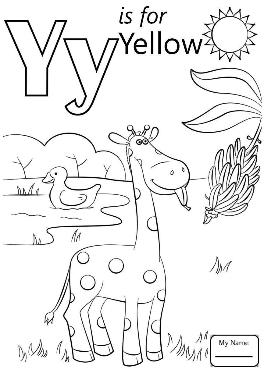 Letter Y Coloring Pages Y Coloring Pages At Getdrawings In 2020 Abc Coloring Pages Alphabet Coloring Pages Abc Coloring
