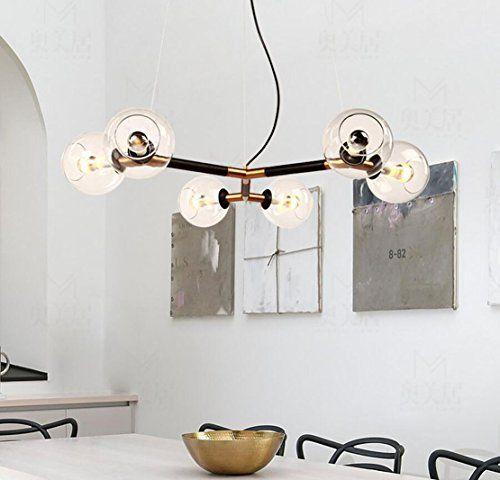 esstischlampe salle à manger lampe suspension boule en ve