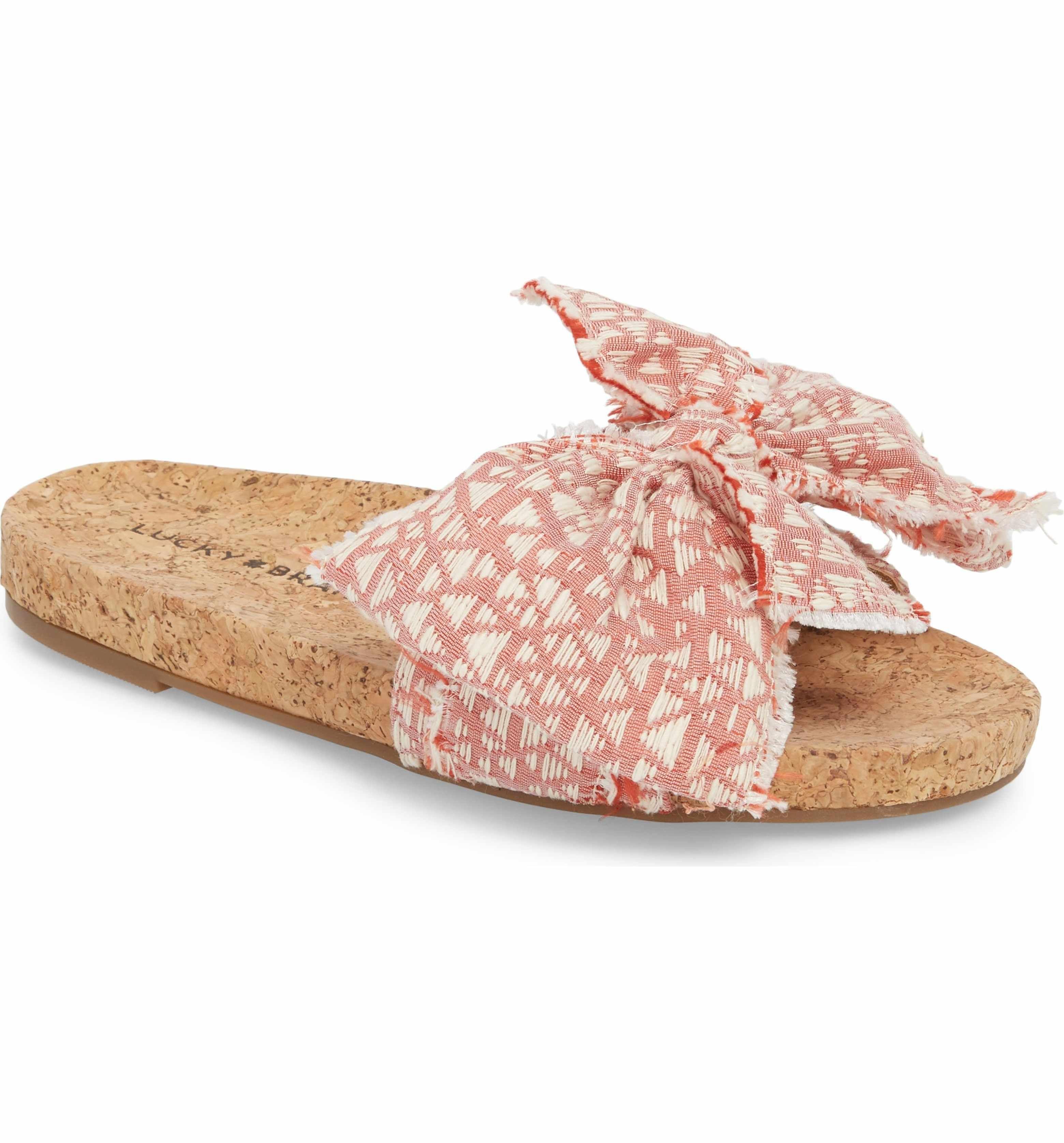Lucky Brand Women's Floella Bow Slide Sandal