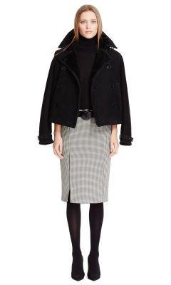Stretch-Wool Fayette Skirt - Black Label  Best Sellers - RalphLauren.com