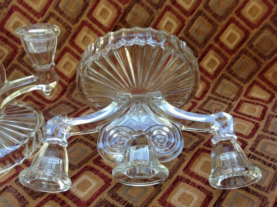 Pair Art Deco Candelabras by vicandjulie on Etsy