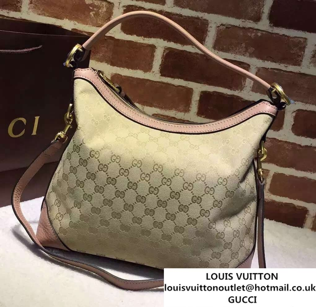 44e28f79764f29 Gucci Miss GG Original GG Hobo Bag 326514 Nude Pink | Gucci | Bags ...