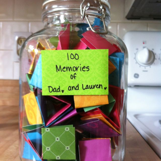 Over 100 Fathers Day Gift Ideas: Father's Day Gift...write 100 Memories On Colorful Squares
