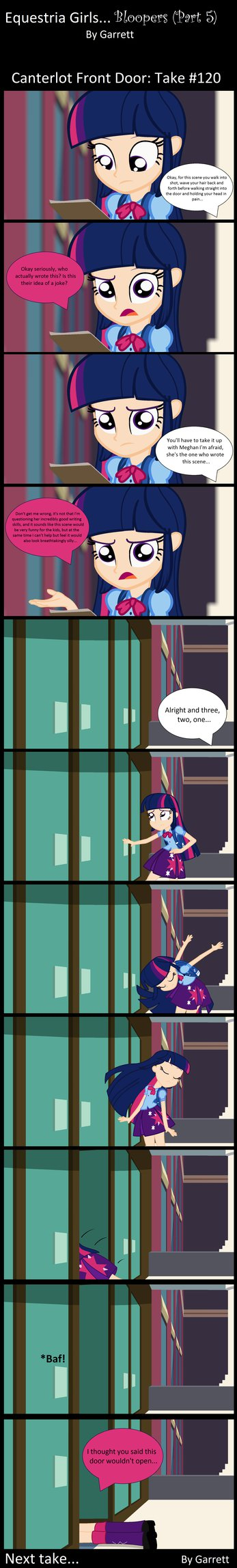 Equestria Girls: Bloopers (Part 5) by GarrettheGarret