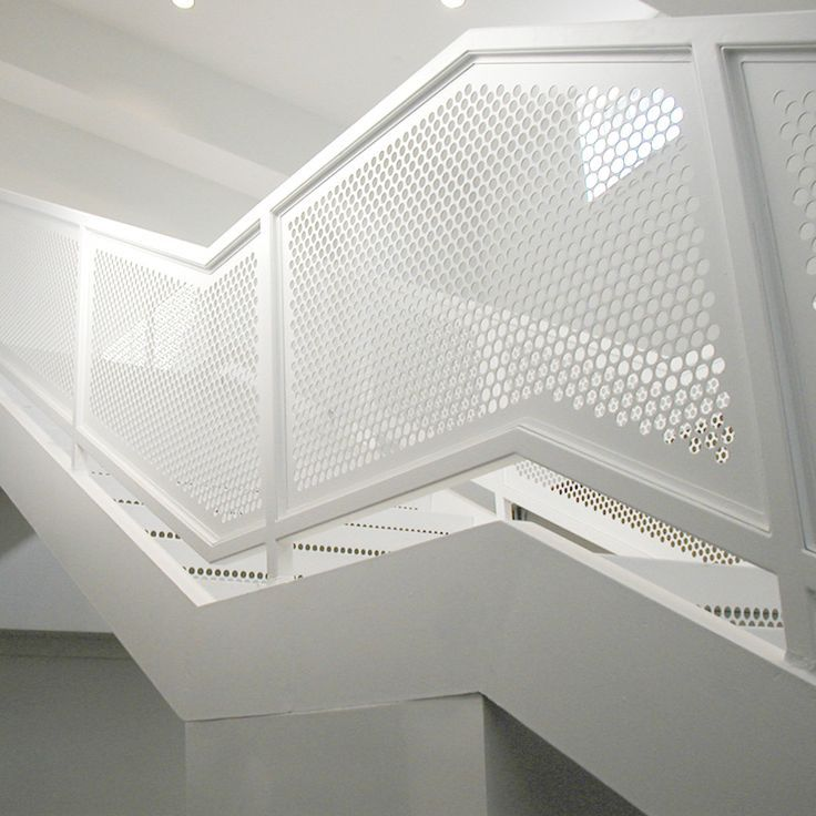 White Perforated Panel Recherche Google Stair Metal
