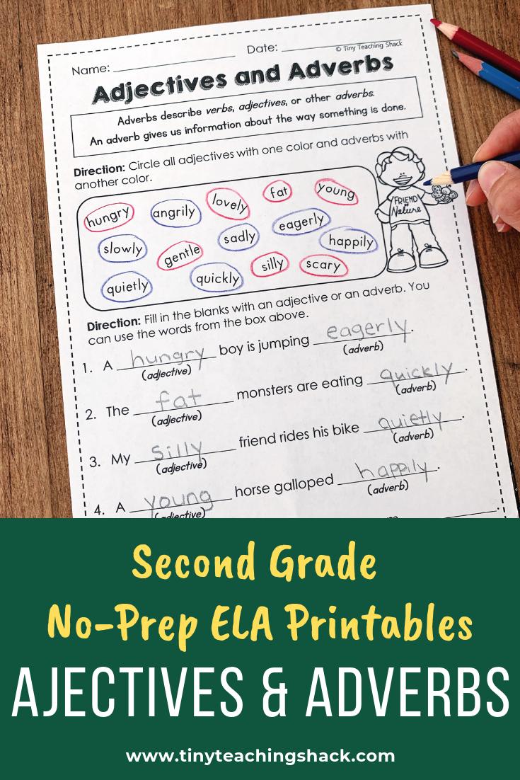 Predownload: Second Grade Grammar Worksheets Grammar Practice Common Core Grammar Adjective Worksheet [ 1102 x 735 Pixel ]