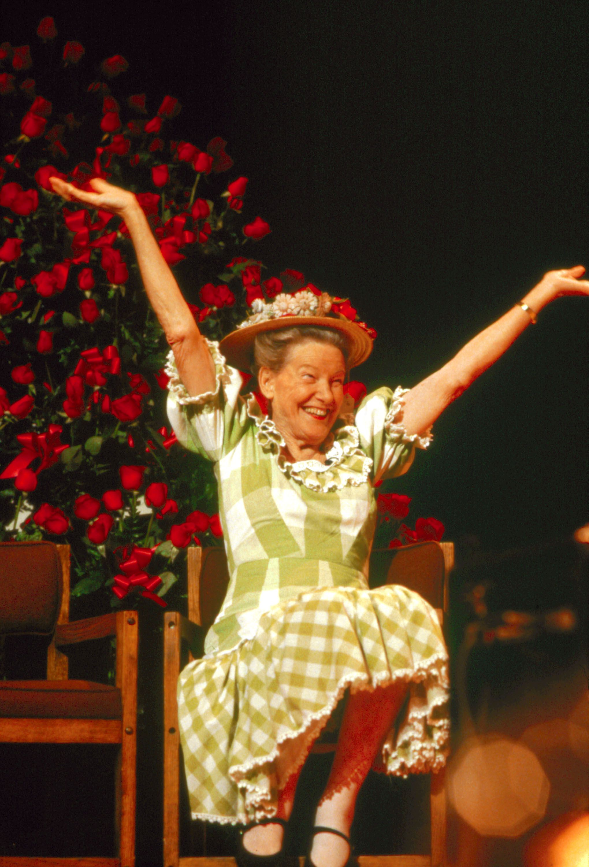 The lovely, exuberant Minnie Pearl.