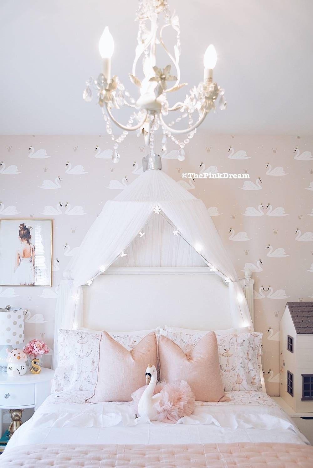 Best A Pink Ballerina Swan Toddler Bedroom Big Girl 640 x 480