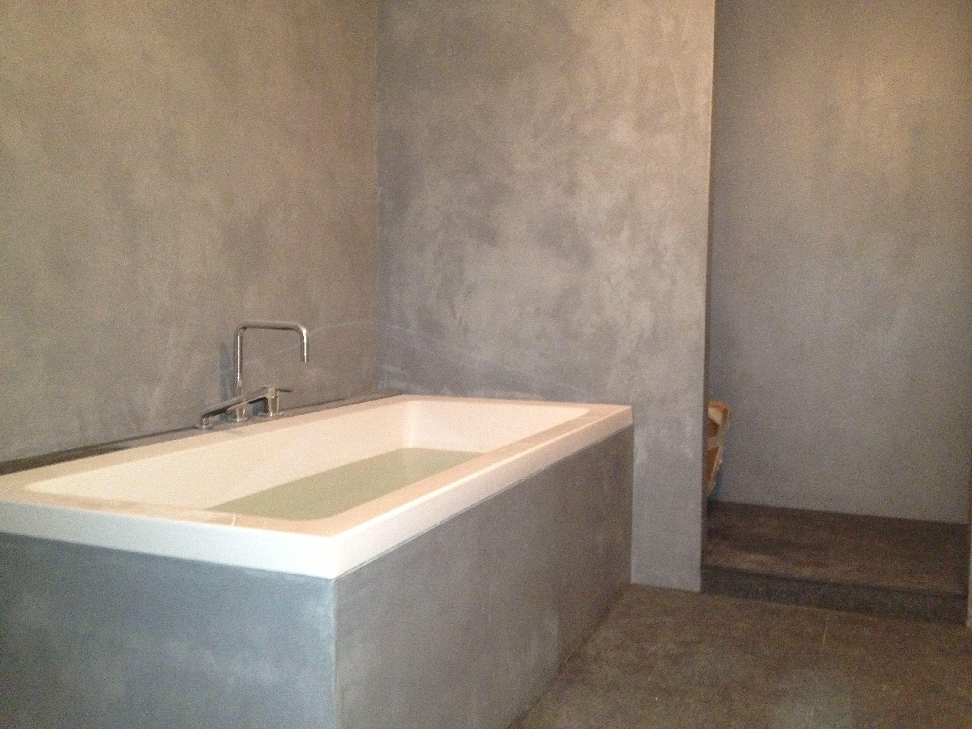 Tegels Badkamer Uitbreken : Beton cire badkamer door slotboom stucadoors beton ciré