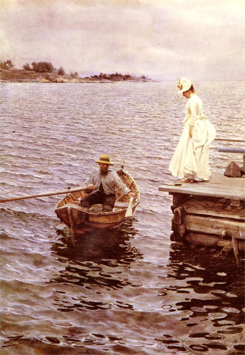 """Anders Zorn, """"Summer Entertainment,"""" 1886."""