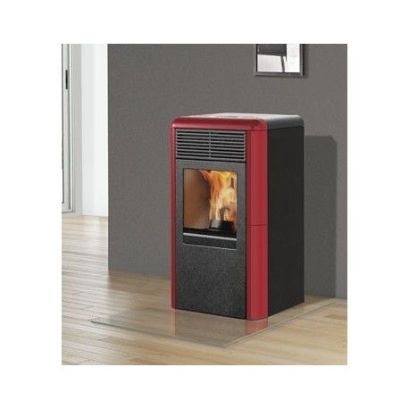 Stufa a #pellet in ghisa #ItalianaCamini Point Plus 8KW ...