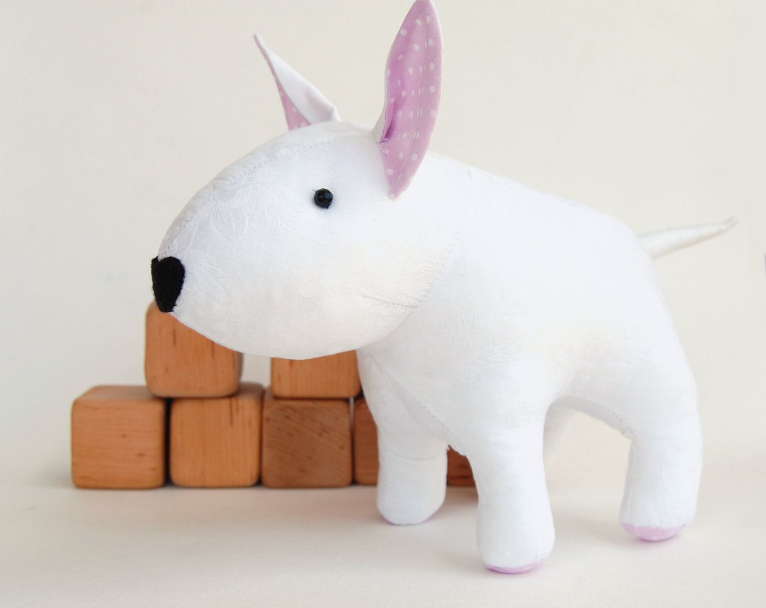 Dog pattern sewing toy pattern bull terrier toy sewing pdf sewing pattern stuffed dog bullterrier toy for kids pdf tutorial diy by toyspatternclub on jeuxipadfo Images