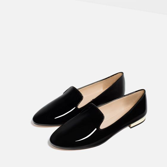 e7041623c Image 3 of PATENT FINISH FLATS from Zara | Shoes Design | Pinterest ...
