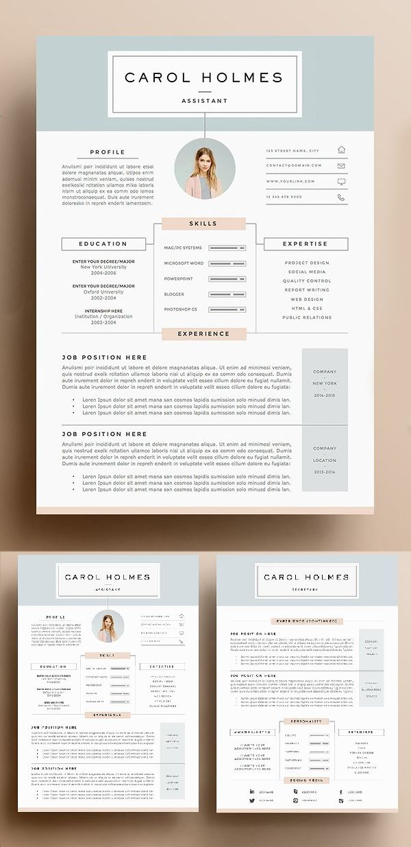 Resume Template 5 pages Milky Way Pinterest Template, Cv - resume 5 pages