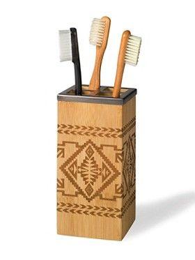 Bamboo Basket Toothbrush Holder by Pendleton