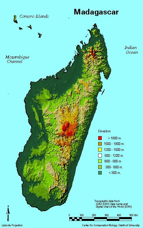 Madagascar topography map | MAPS | Pinterest
