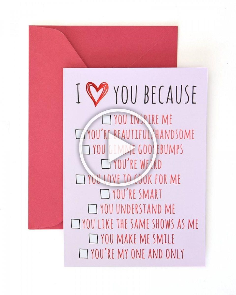 I Love You Because Valentines Day Card with Gold Foil Give your loved one this special card on Val I Love You Because Valentines Day Card with Gold Foil Give your loved o...