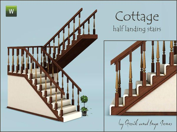 Gosik's Cottage half landing stairs *free* The sims 3 | the