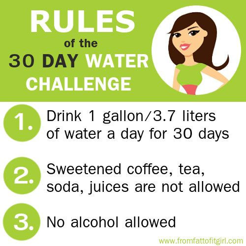 30 day water challenge rules *** see more tips on www ...