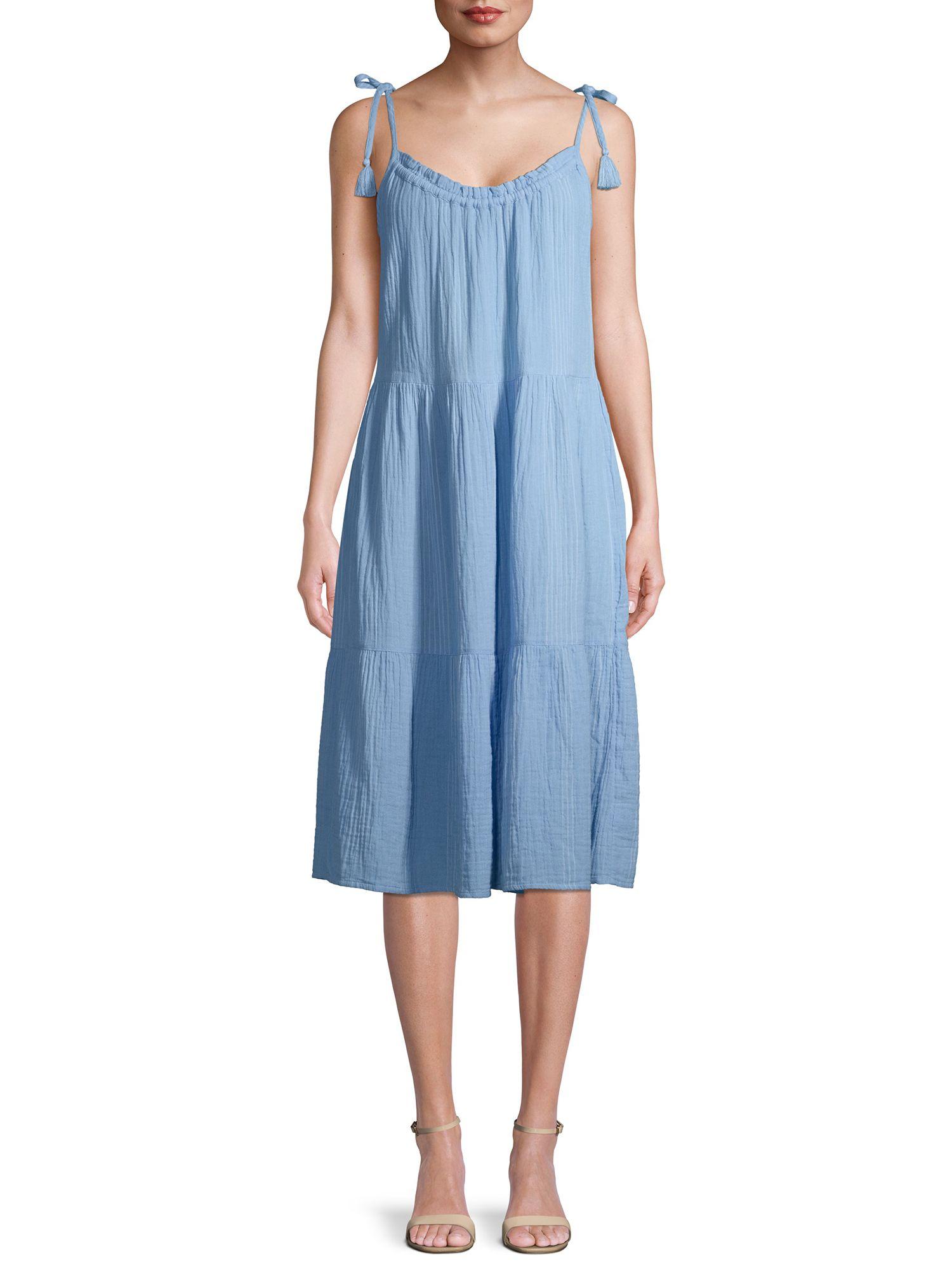 Time And Tru Time And Tru Women S Tiered Tie Sleeve Midi Dress Walmart Com Midi Dress With Sleeves Midi Dress Dresses [ 2000 x 1500 Pixel ]