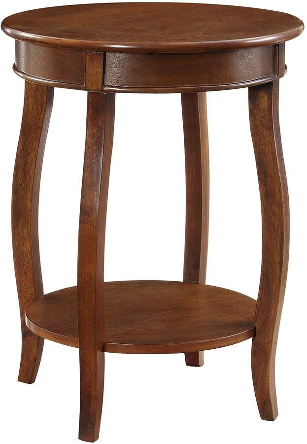 Powell Hazelnut Round End Table Table Furniture End Tables