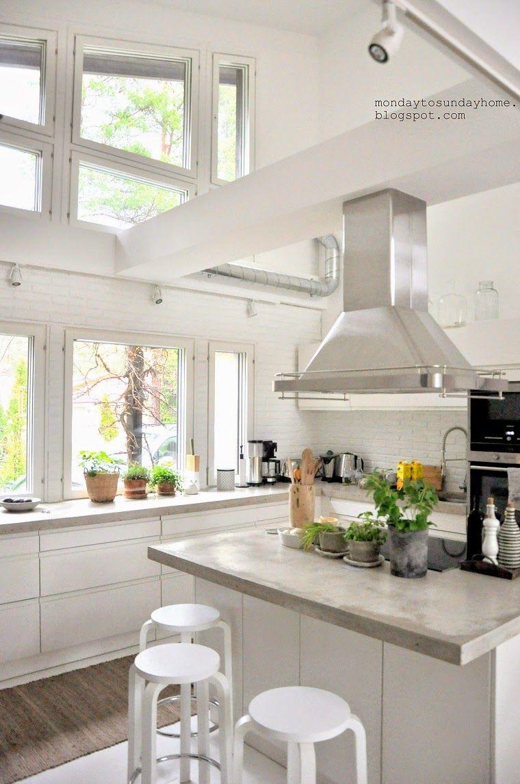 white kitchen - ventilation idea | Kitchens | Pinterest | Kitchens ...