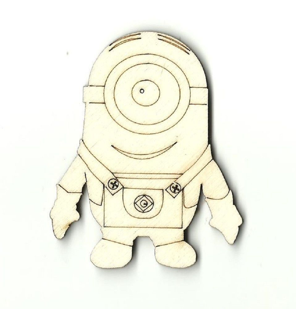 One Eyed Minion Unfinished Laser Cut Wood Shape DSY13 | Mythical ...