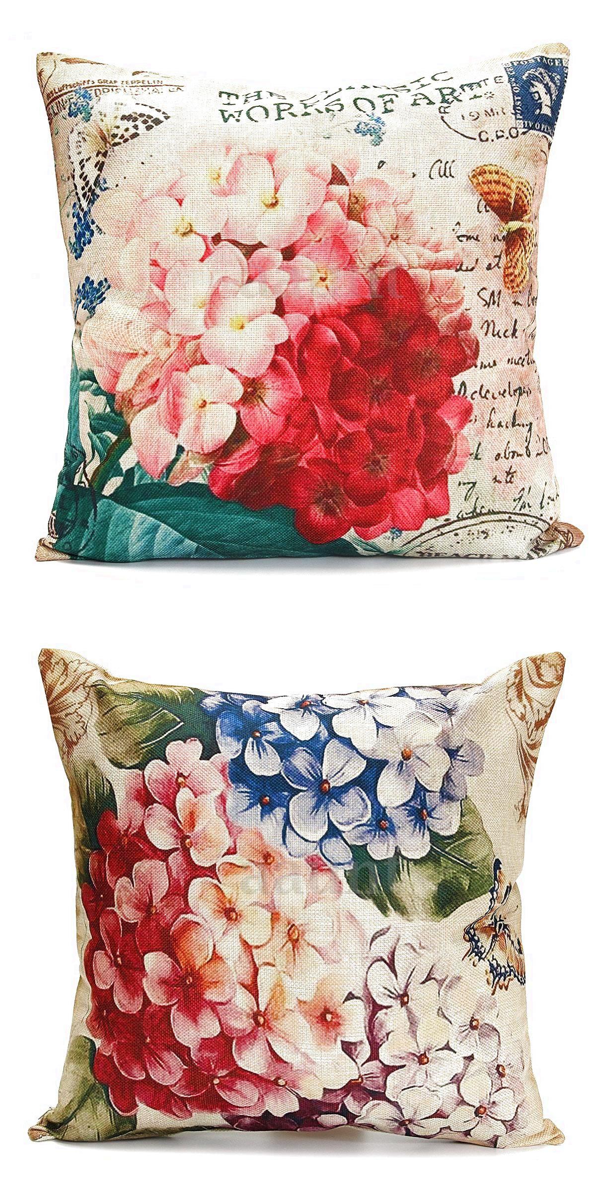 Hot vintage home decor cotton linen pillow case sofa waist throw