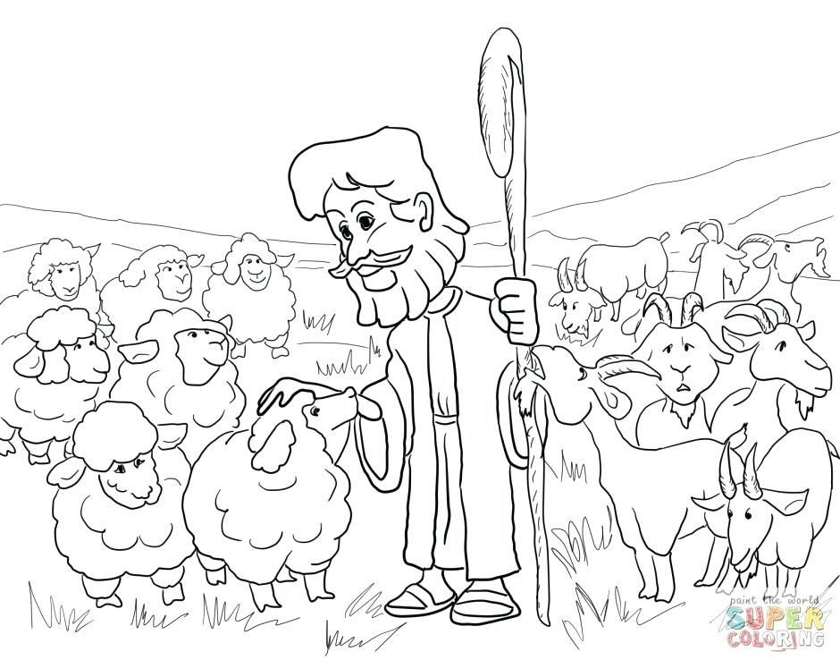 Lost Sheep Coloring Page Parable Of The Pages Bible Coloring