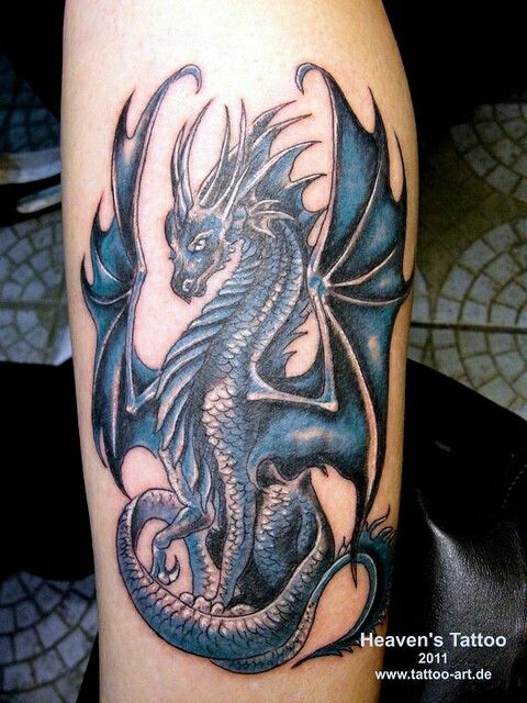 Chest Shoulder Arm Daveigh S Chinese Zodiac Is A Water Dragon I Would Like A Dragon Like This Small Dragon Tattoos Dragon Tattoos For Men Blue Dragon Tattoo