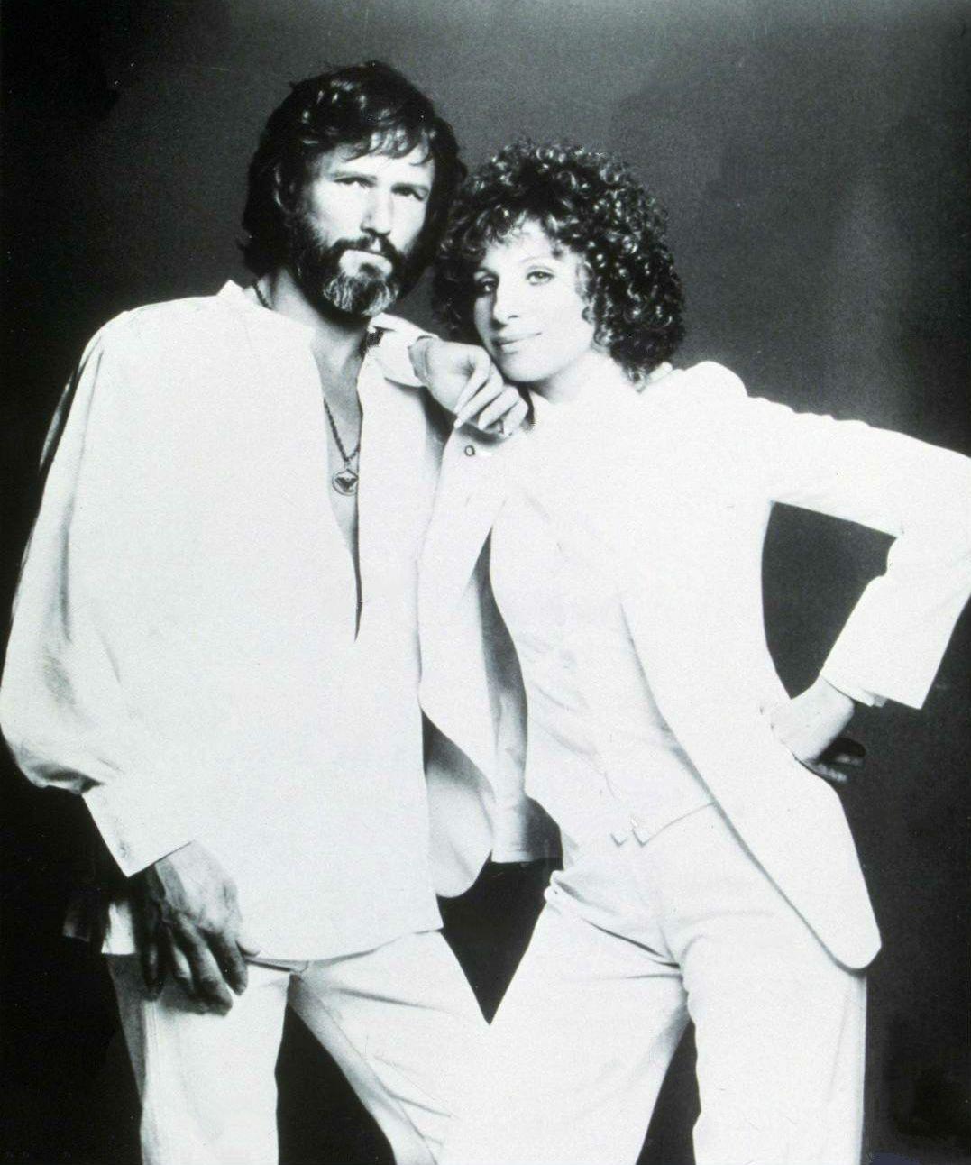 Barbra Streisand Kris Kristofferson Star Is Born Kris Kristofferson Vintage Film Stars A Star Is Born