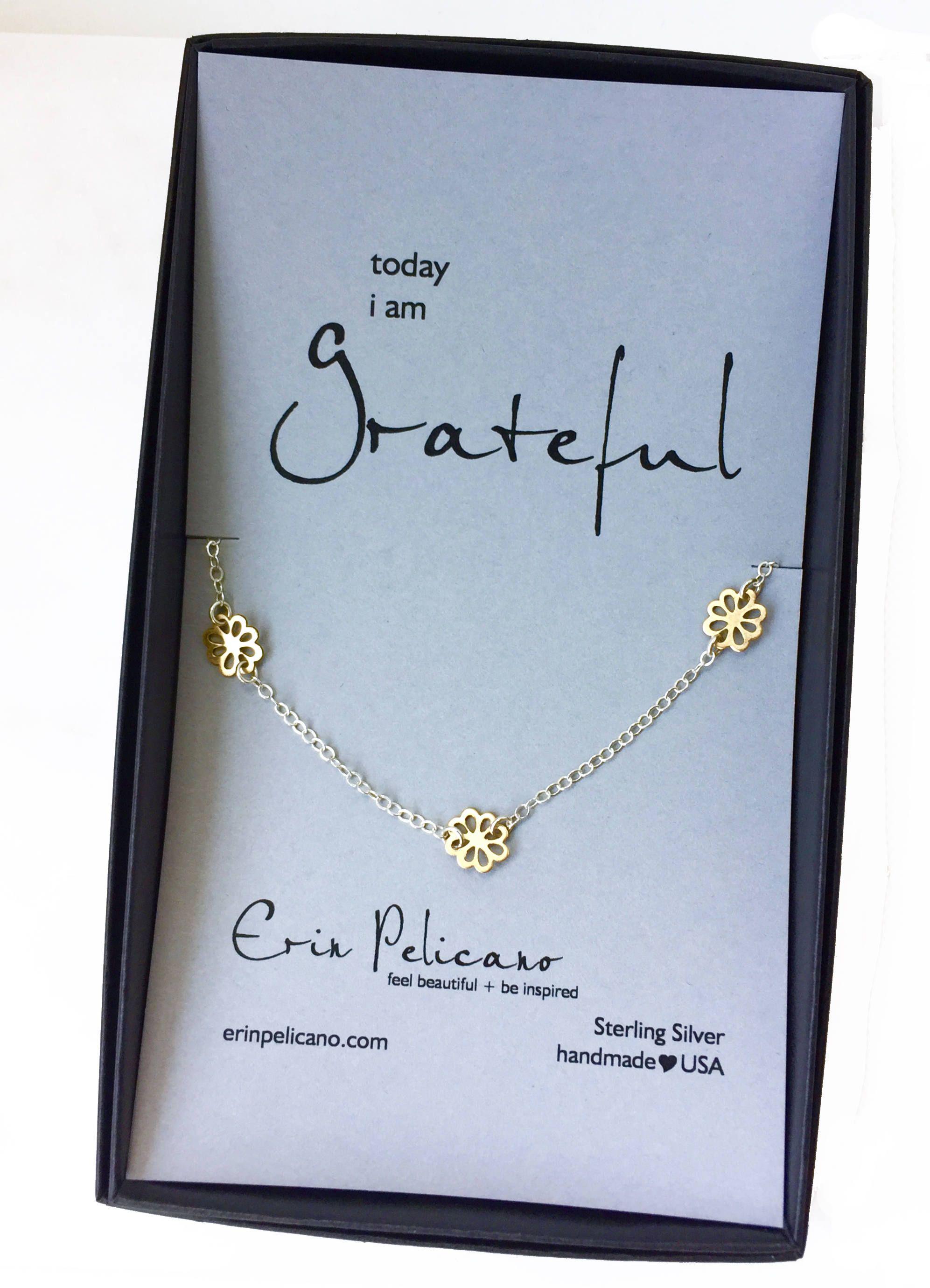 Gratitude Jewelry Bridesmaid Gift Birthday Gift For Her
