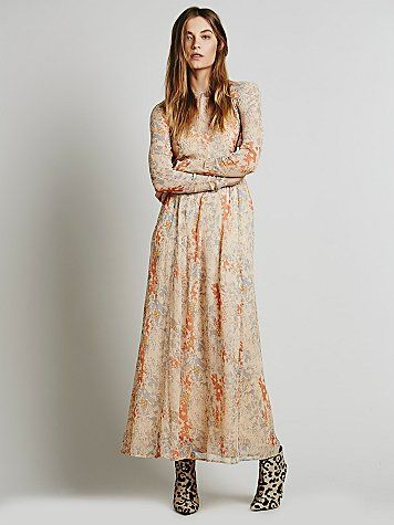 Phoebe cap sleeve maxi dress
