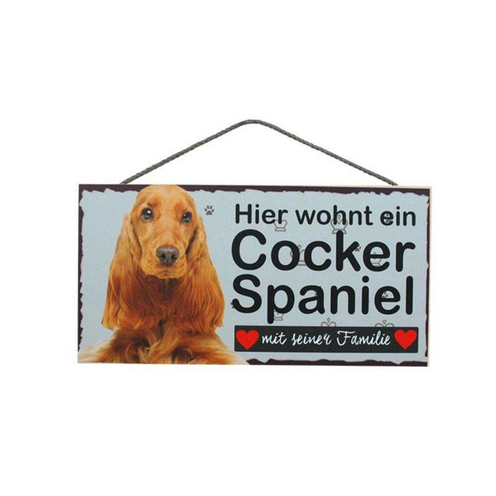 Tierschild Hund Holzschild Türschild Cocker Spaniel