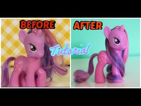 Mlp How I Wash My Ponies Manes Tutorial Poney