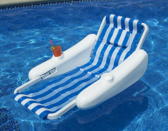 Sunchaser Sling Style Floating Lounge Chair Jaws Pool