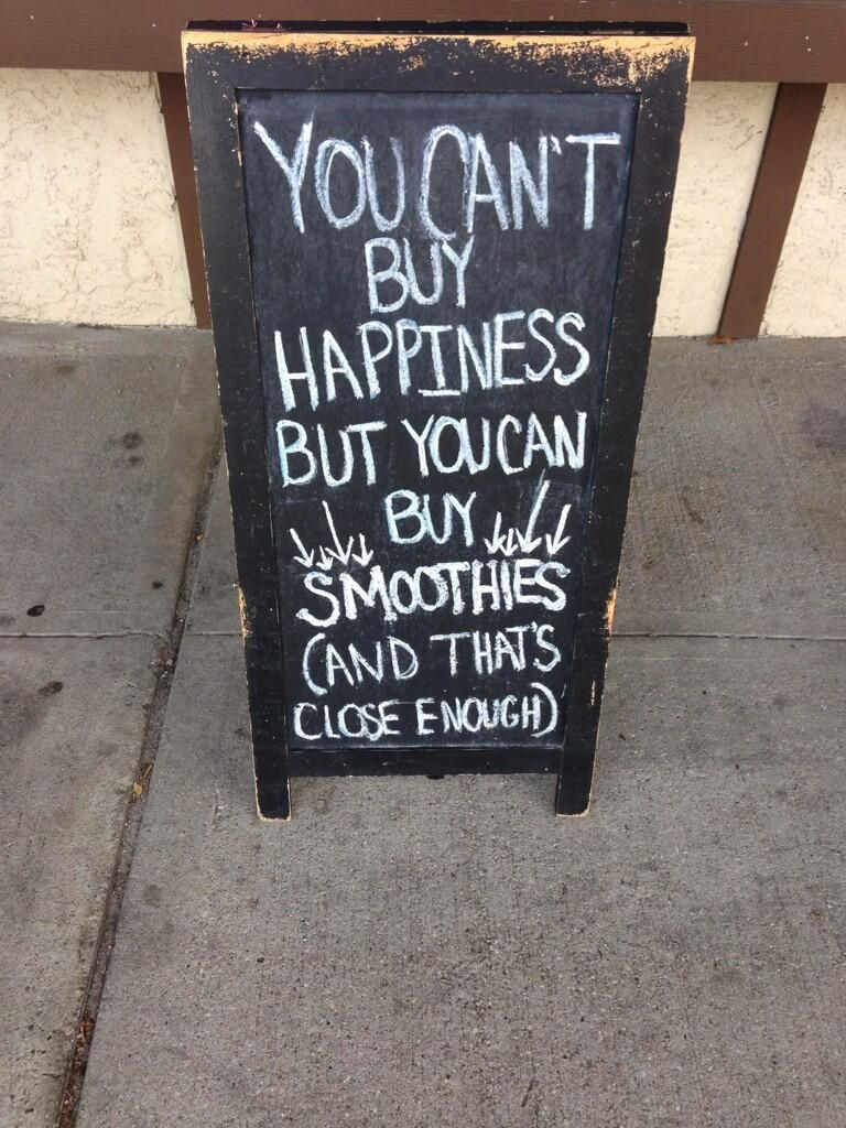 You Can't Buy Happiness, but you can buy smoothies (and ...